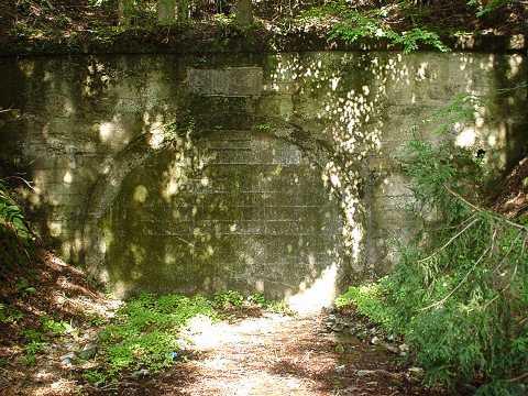 写真:旧道坂隧道道志側坑口跡