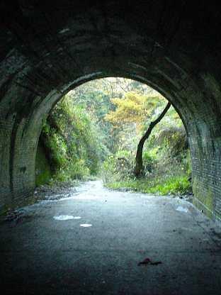 写真:畑トンネル内より青梅側坑口を望む